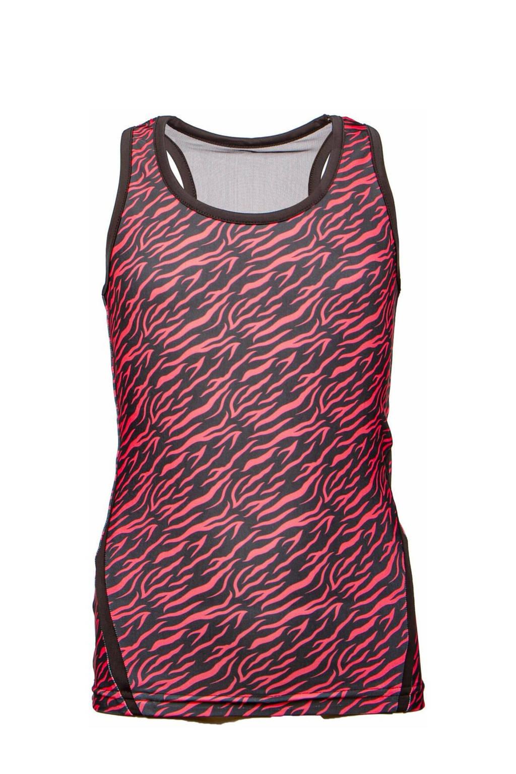 Papillon sporttop zwart/roze, Zwart/roze