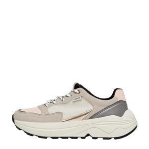 ONLSYLVIE-3  chunky sneakers grijs/beige