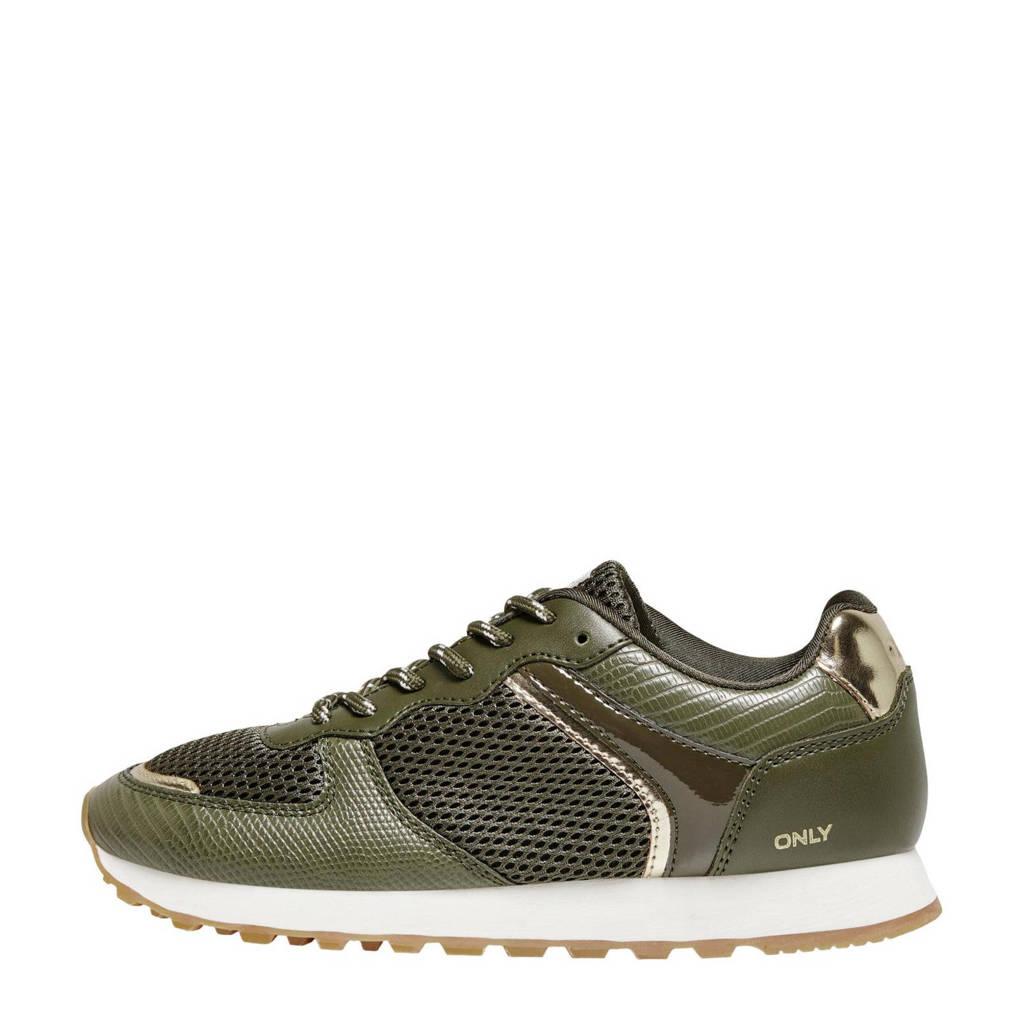 ONLY ONLSAHEL-7  sneakers olijfgroen, olijfgroen/goud