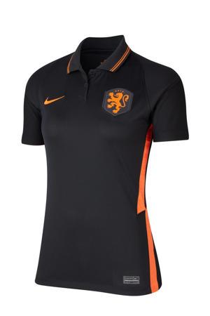 uit voetbalshirt zwart/oranje