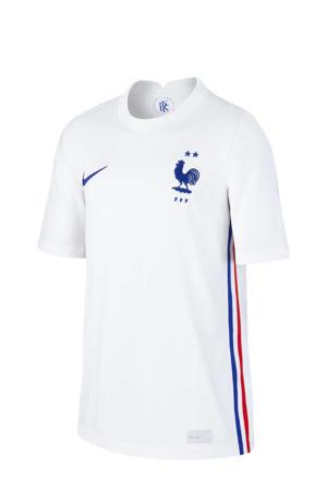 Junior Frankrijk uit voetbalshirt wit/blauw