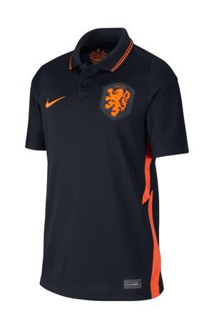 Junior Nederland uit voetbalshirt zwart/oranje