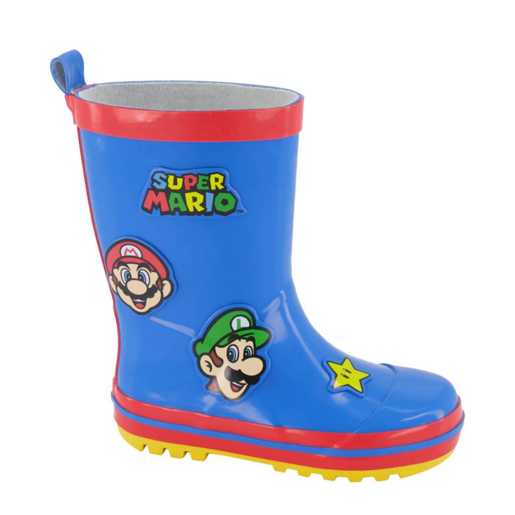 Super Mario   regenlaarzen blauw/rood kids, Blauw/rood
