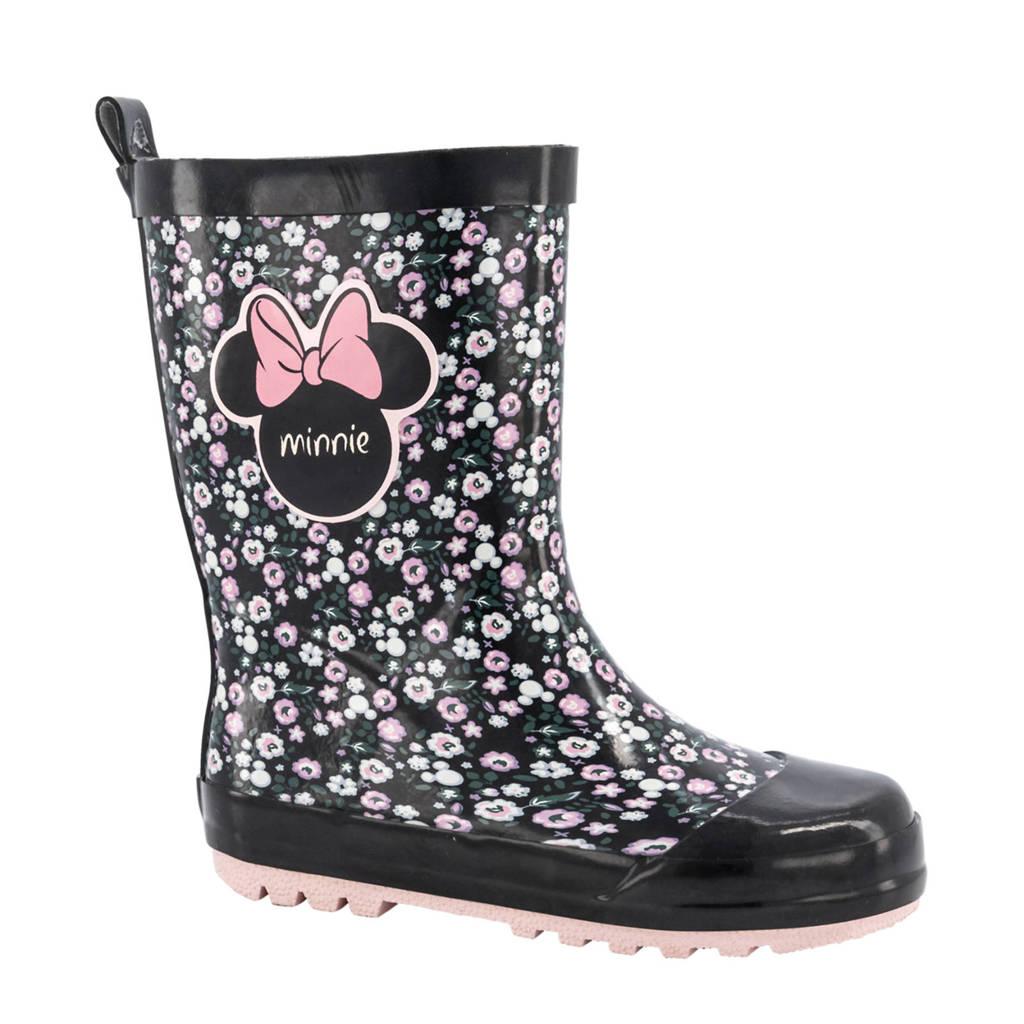 Disney   regenlaarzen zwart/roze, Zwart/roze