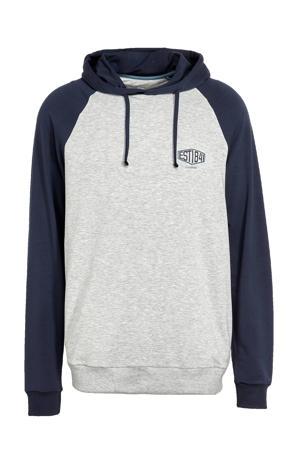 pyjamatop grijs/donkerblauw