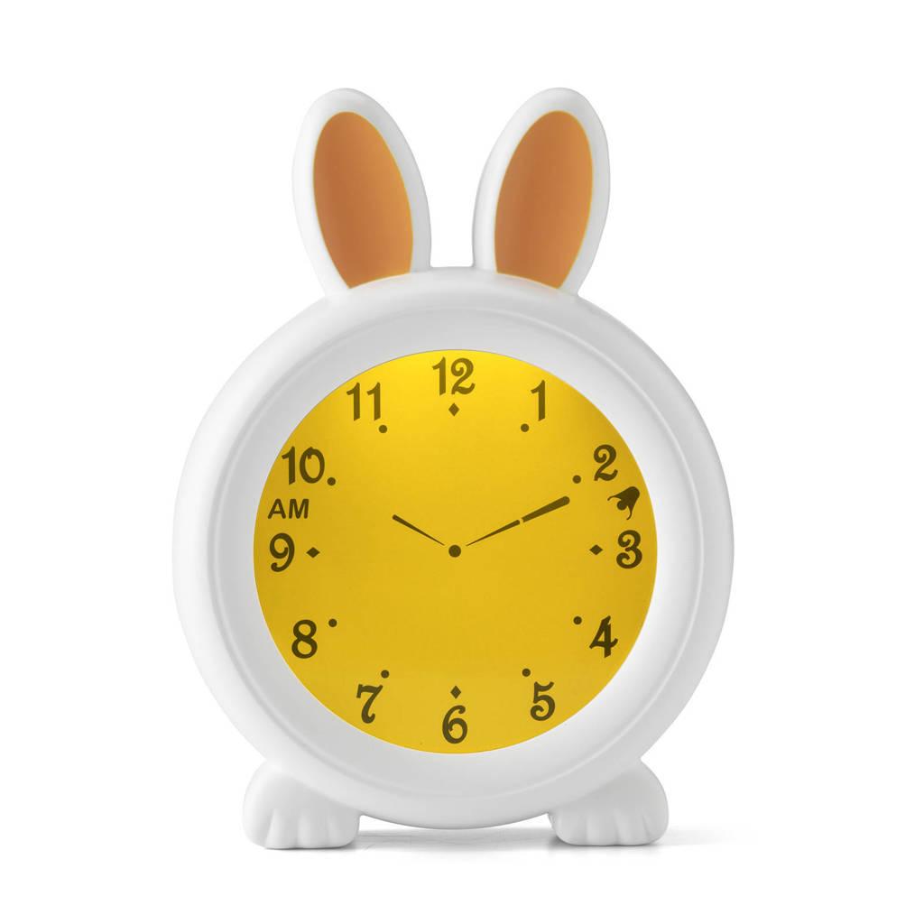 Alecto BC-100 Bunny- slaaptrainer, nachtlampje en wekker, Wit Bunny