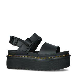 Voss Quad  leren plateau sandalen zwart