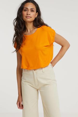 T-shirt VMAVA PLAIN SS TOP GA COLOR oranje