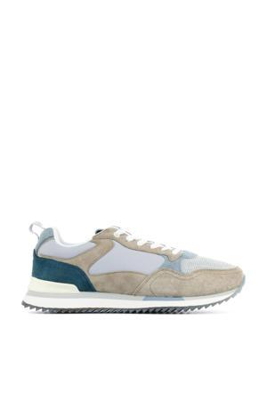 Bristol  suède sneakers beige/blauw