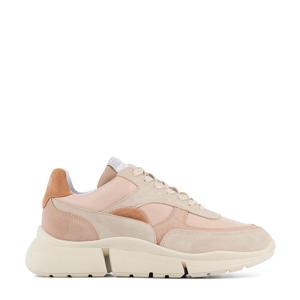 12664  suède chunky sneakers roze/beige
