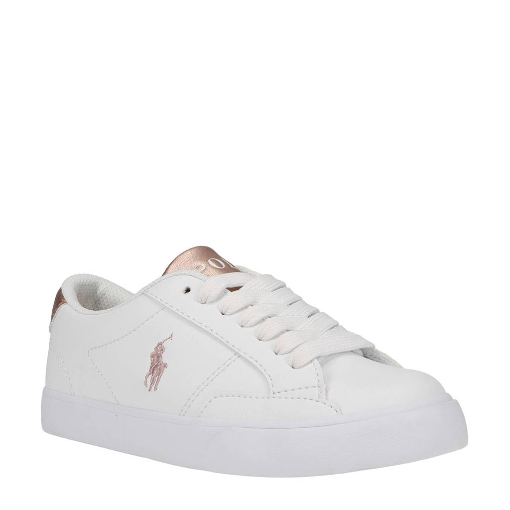 POLO Ralph Lauren Theron IV  sneakers wit/roségoud, Wit/roségoud