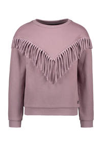 Like Flo sweater met franjes lila, Lila