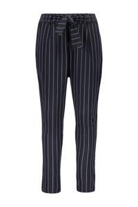 Like Flo gestreepte regular fit broek donkerblauw, Donkerblauw