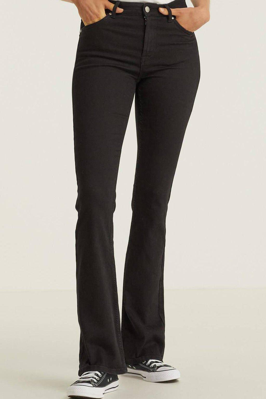anytime flared jeans zwart, Zwart