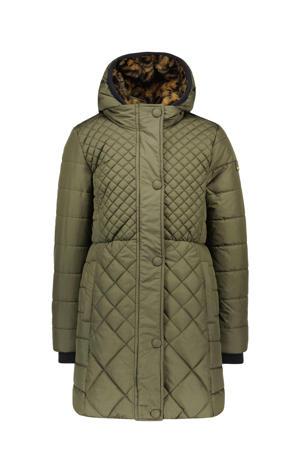 gewatteerde winterjas army groen