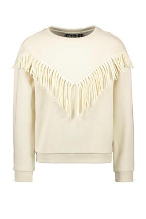 sweater met franjes ecru