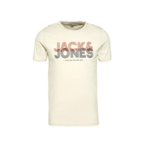 JACK & JONES CORE T-shirt Lexus met logo silver birch