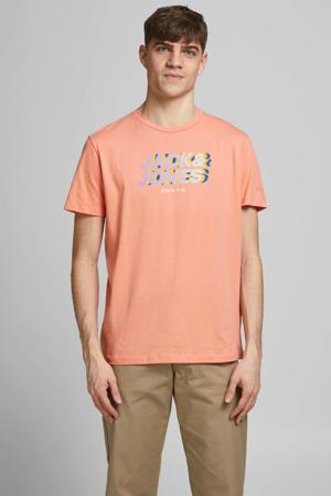 T-shirt met printopdruk zalm