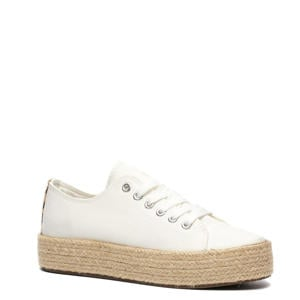 plateau sneakers wit