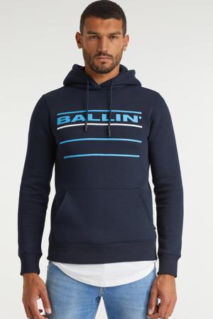 hoodie met logo navy