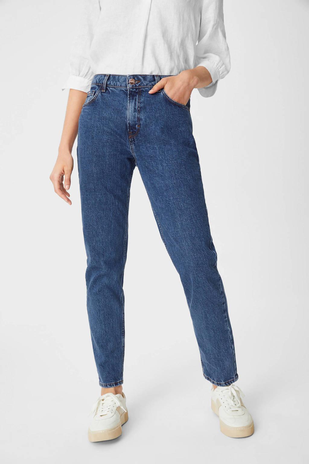C&A YESSICA PREMIUM high waist straight fit jeans donkerblauw, Donkerblauw