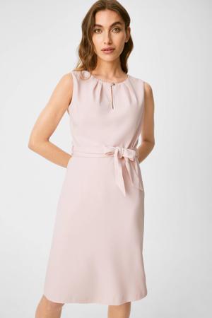 jurk met plooien roze