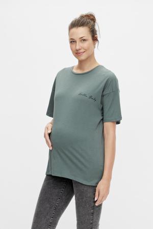 zwangerschapsshirt MLMARYLEE van biologisch katoen groen