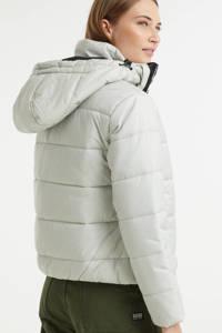 G-Star RAW gewatteerde jas Meefic met biologisch katoen ecru/zwart, Ecru/zwart
