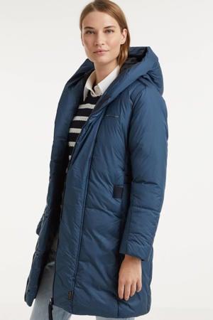 gewatteerde jas Whistle van gerecycled polyester blauw