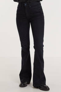 G-Star RAW 3301 high waist flared jeans worn in deep water