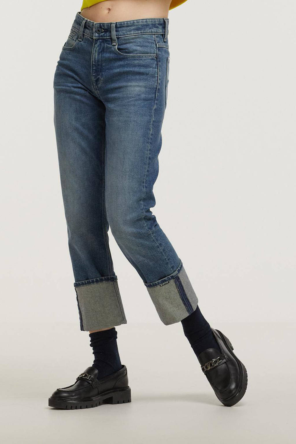 G-Star RAW NOXER high waist straight fit jeans faded cascade