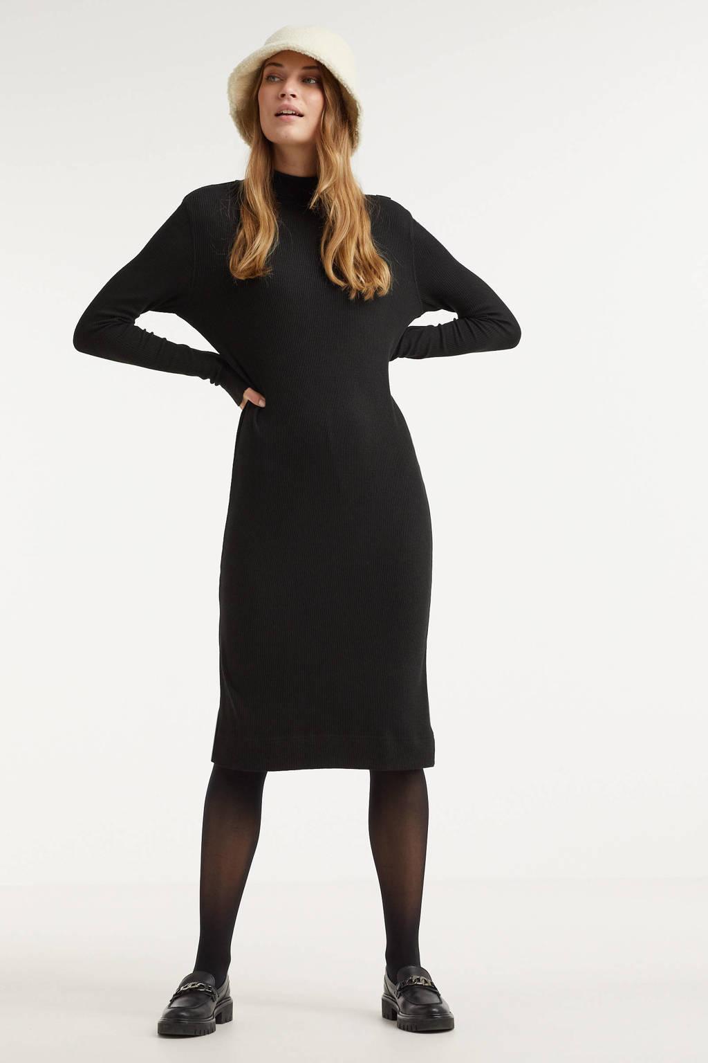 G-Star RAW fijngebreide jurk zwart, Zwart