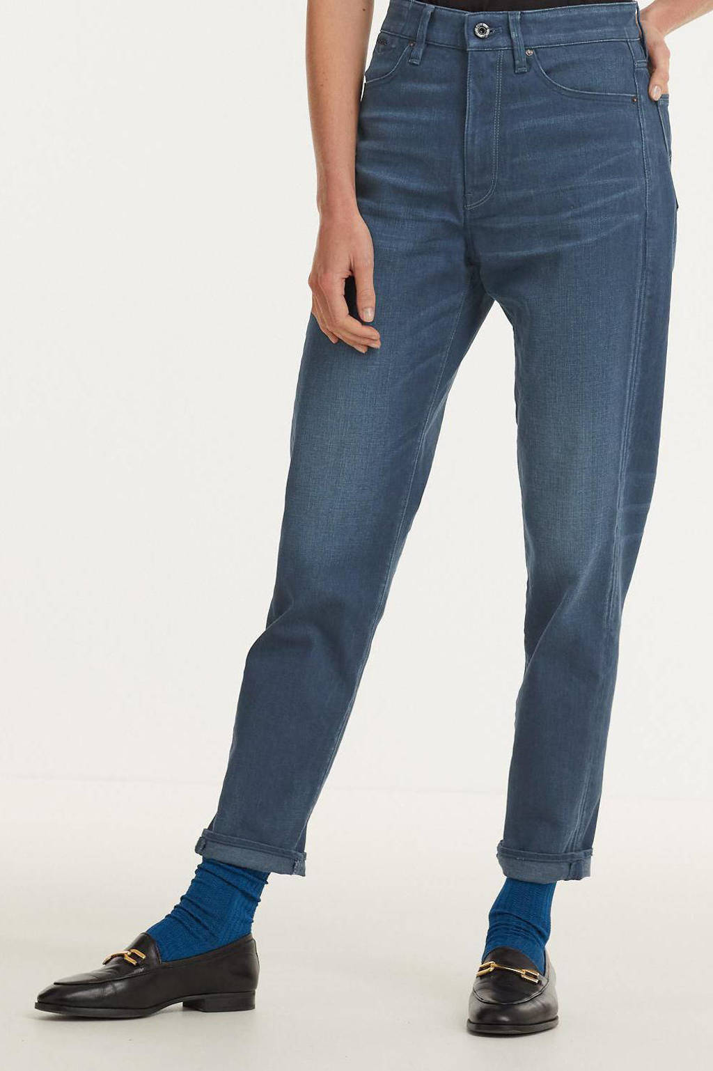 G-Star RAW Janeh Mom jeans high waist straight fit jeans worn in rivulet