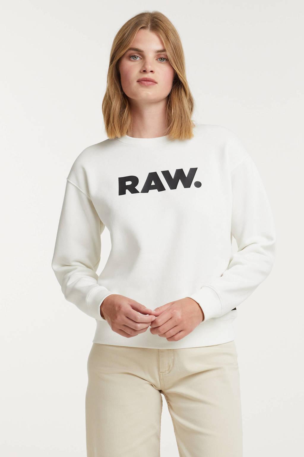 G-Star RAW sweater van gerecycled polyester ecru, Ecru