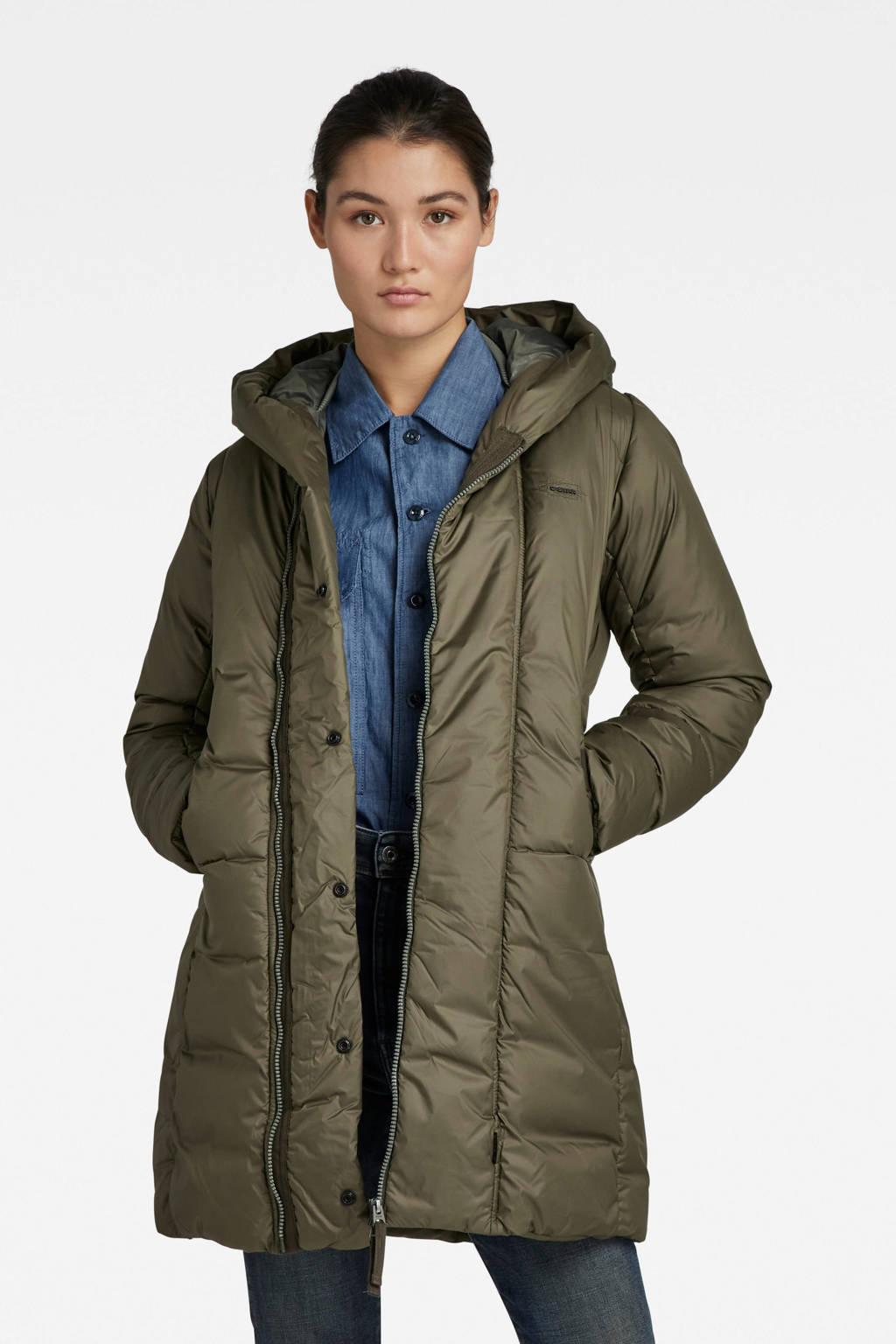 G-Star RAW gewatteerde winterjas G - Whistler van gerecycled polyester donkergroen, Donkergroen