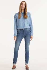 G-Star RAW Lhana high waist skinny jeans worn in gravel blue