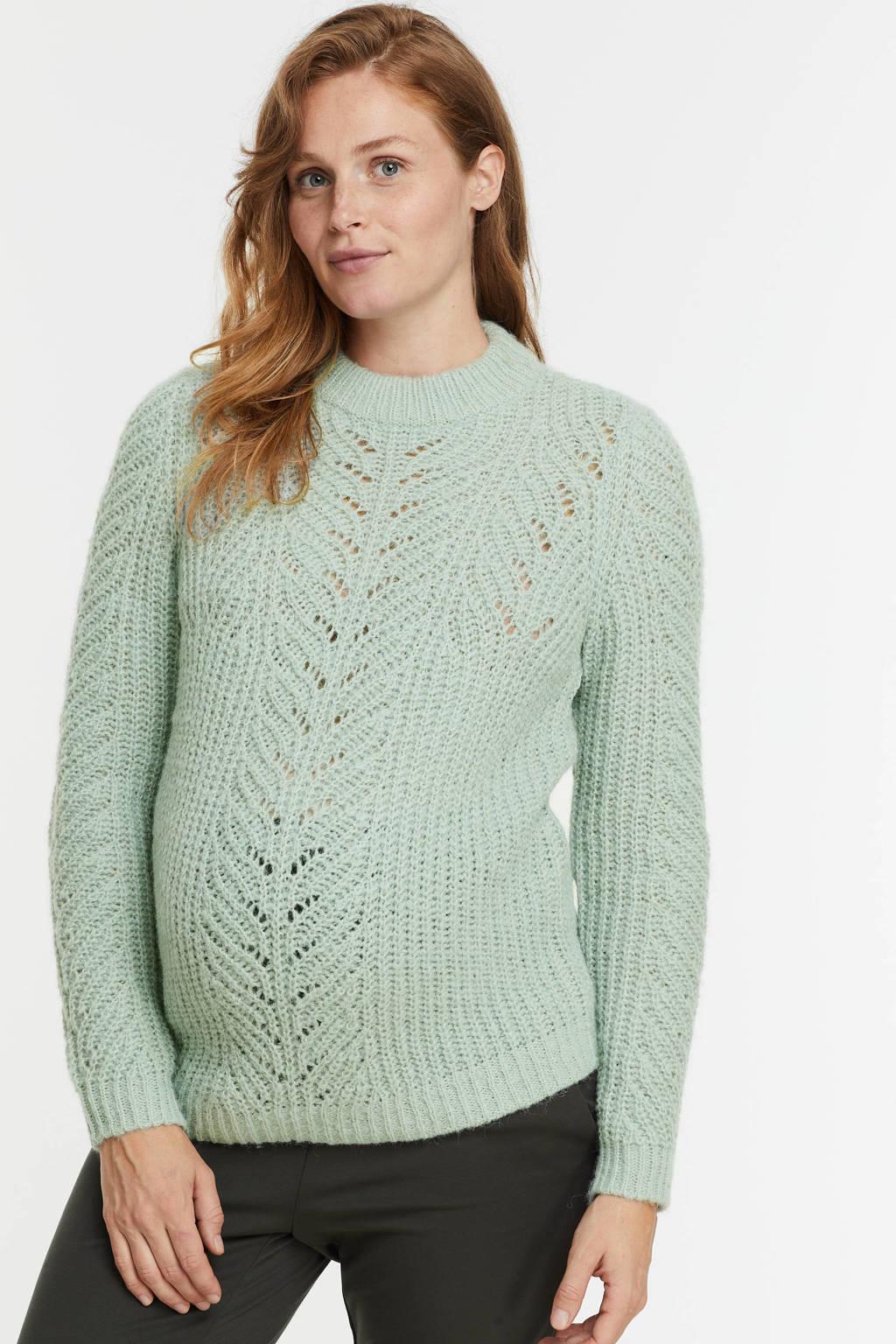 PIECES Maternity zwangerschapstrui PCMFIRE van gerecycled polyester mintgroen, Mintgroen