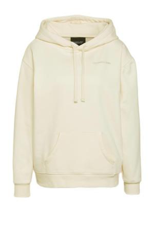 hoodie Revolution oversized hoodie met printopdruk en borduursels gebroken wit