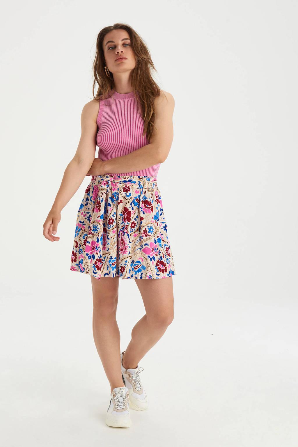 Shoeby Eksept wide leg korte broek Bowie Floral met all over print multi, Multi