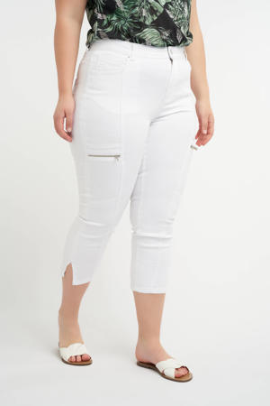 cropped skinny jeans wit