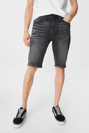 slim fit jeans short antraciet