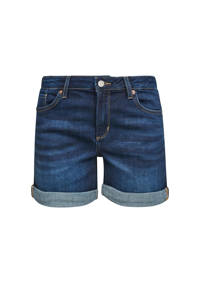 Q/S designed by slim fit jeans short donkerblauw, Donkerblauw