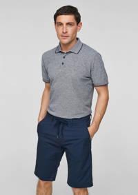 s.Oliver BLACK LABEL slim fit chino short donkerblauw, Donkerblauw