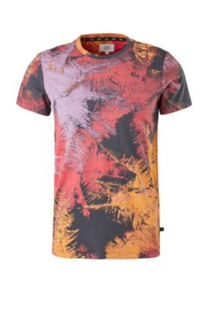slim fit T-shirt met all over print multi