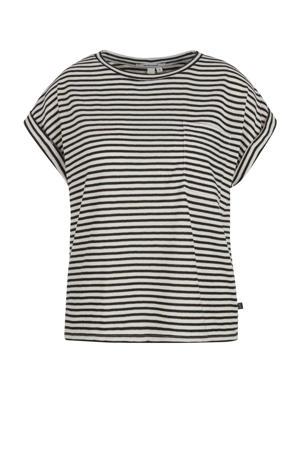 gestreepte T-shirt zwart/wit