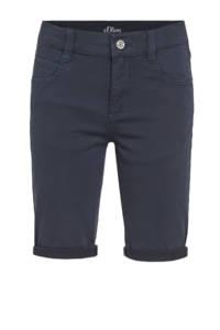 s.Oliver regular fit jeans bermuda donkerblauw, Donkerblauw