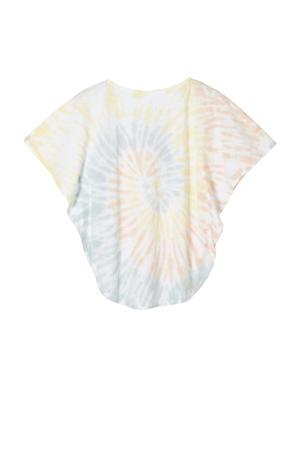 T-shirt met all over print en vleermuismouwen multi color