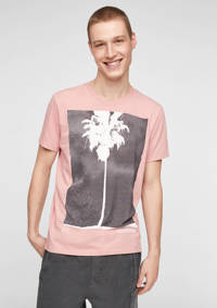 Q/S designed by T-shirt met printopdruk lichtroze, Lichtroze