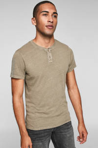 Q/S designed by slim fit T-shirt bruin, Bruin