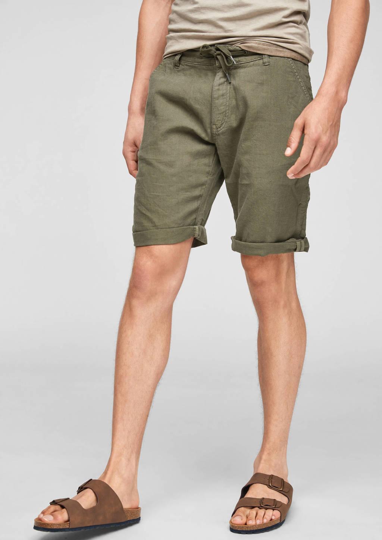 Q/S designed by regular fit short kaki, Kaki